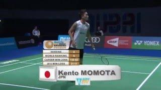 【동영상】켄토 모모타 VS 빅터 악셀슨 2015 년 두바이 월드 수퍼 파이어스 결승 결승