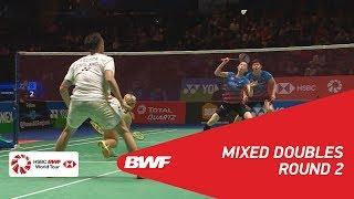 【동영상】크리스 애드콕・가브리엘 애드콕 VS SEO Seung Jae・김하나 YONEX 전 잉글랜드 오픈 2018 베스트 16