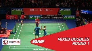 【동영상】크리스 애드콕・가브리엘 애드콕 VS GOH Soon Huat・Shevon Jemie LAI YONEX 전 잉글랜드 오픈 2018 베스트 32