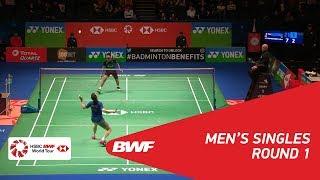 【동영상】브라이스 르베르데즈 VS 스리칸스 키담비 YONEX 전 잉글랜드 오픈 2018 베스트 32
