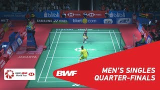 【동영상】리총웨이 VS Kantaphon WANGCHAROEN BLIBLI 인도네시아 오픈 2018 준준결승