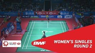 【동영상】그레고리아 마리스카 툰중 VS 라챠녹 인타논 BLIBLI 인도네시아 오픈 2018 베스트 16