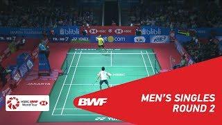 【동영상】안토니 시니스카 긴팅 VS 켄토 모모타 BLIBLI 인도네시아 오픈 2018 베스트 16