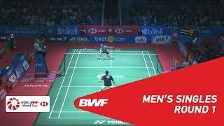 【동영상】마크·칼 주 VS 안토니 시니스카 긴팅 BLIBLI 인도네시아 오픈 2018 베스트 32