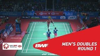 【동영상】리키 카란다 수와르디・앙가 프라타마 VS HE Jiting・TAN Qiang BLIBLI 인도네시아 오픈 2018 베스트 32