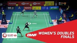 【동영상】그레이시아 폴리・Apriyani RAHAYU VS 마츠모토 미사키・다카하시 아야카 도요타 태국 오픈 2018 결승