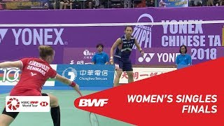 【동영상】타이추잉 VS 리네 케어스펠트 2018 년 대만 타이페이 오픈 결승