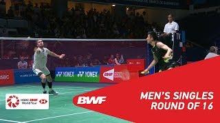 【동영상】천룽 VS 얀 오 요르겐센 YONEX 프랑스 오픈 2018 베스트 16