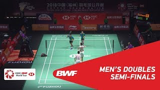 【동영상】HE Jiting・TAN Qiang VS 모하마드 아산・헨드라 세티아완 푸 저우 중국 오픈 2018 준결승