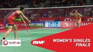 【동영상】사이나 네흐왈 VS 카롤리나 마린 다이 하츠 인도네시아 마스터즈 2019 결승