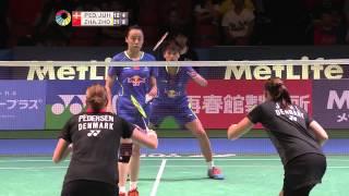 【동영상】크리스티나 페데르센 VS ZHONG Qianxin 요넥스 오픈 일본 그렇지