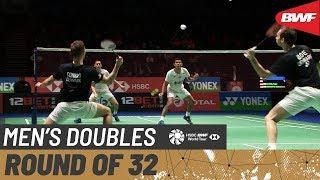 【동영상】파자르 알피안・무하마드 리안 아르디안토 VS 마티아스 부・메드스 콘라드 피터센 요넥스 올 잉글랜드 오픈 2020 베스트 32