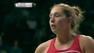 【동영상】로레인 바우만・오드리 폰테인 VS 제니 무어・빅토리아 윌리엄스 총 BWF 세계 선수권 대회 2017 베스트 64