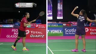 【동영상】라챠녹 인타논 VS Rui Chen YAP 총 BWF 세계 선수권 대회 2017 베스트 32