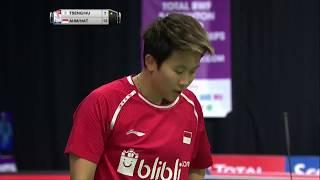 【동영상】톤토위 아마드・릴리야나 낫시르 VS TSENG Min Hao・HU Ling Fang 총 BWF 세계 선수권 대회 2017 베스트 32