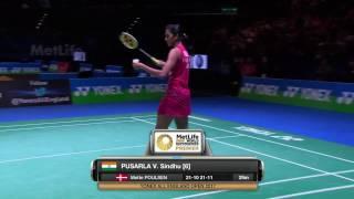 【동영상】P.V. 신두 VS 디나르 아유스티네 YONEX 전 잉글랜드 오픈 베스트 16