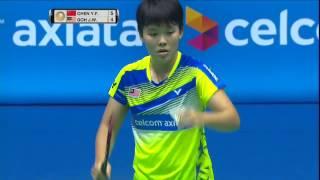 【동영상】첸 유페이 VS 고 진 웨이 CELCOM AXIATA 말레이시아 오픈 베스트 16