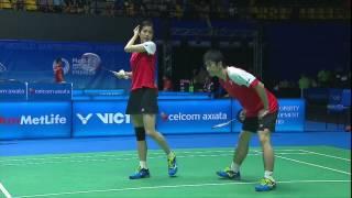 【동영상】요아킴 피셔 닐슨/크리스티나 페데르센 VS 가즈노 겐타/쿠리하라 아야네 CELCOM AXIATA 말레이시아 오픈 베스트 16