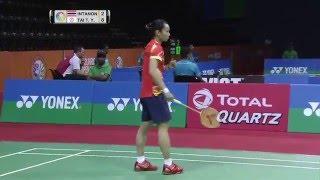 【동영상】라챠녹 인타논 VS 타이추잉 YONEX SUNRISE 인도 오픈 준준결승