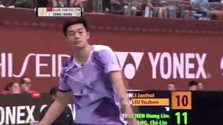 【동영상】리 준휘・리우 유첸 VS 첸헝링・왕치린 YONEX 오픈 타이완 타이페이 결승